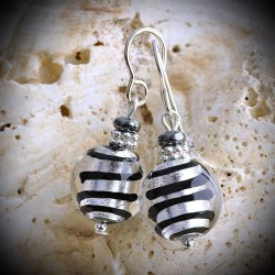 BIZ SILVER earrings IN REAL GLASS OF MURANO