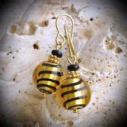 BIZ GOLD earrings IN REAL GLASS OF MURANO