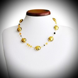 CHARMS NECKLACE GOLD GENUINE MURANO GLASS OF VENICE
