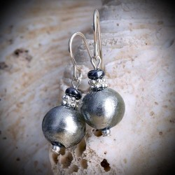 MIA SILVER earrings IN REAL GLASS OF MURANO IN VENICE