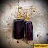 Earrings AMETHYST IN GENUINE MURANO GLASS FROM VENICE