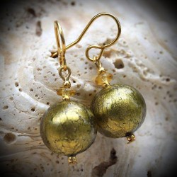 Earrings KHAKI GENUINE MURANO GLASS OF VENICE