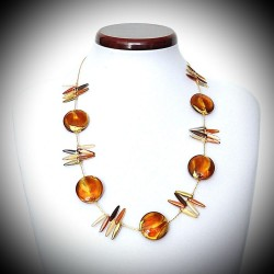 DRAGONFLY AMBER NECKLACE GENUINE MURANO GLASS OF VENICE