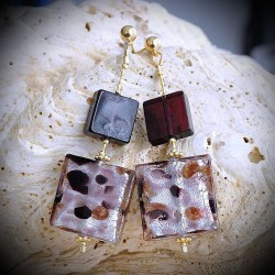 NOUGATINE PARMA earrings IN REAL GLASS OF MURANO IN VENICE