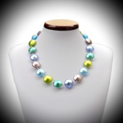 COLLIER MULTICOLOR EN VERITABLE VERRE DE MURANO DE VENISE