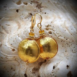 Earrings GENUINE MURANO GLASS ' GOLD OF VENICE