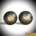 CRAQUELE GOLD CUFFLINKS IN GENUINE MURANO GLASS FROM VENICE