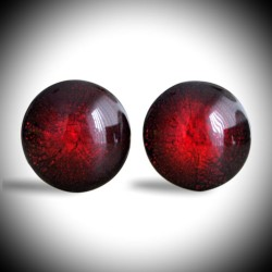 CRAQUELE RED CUFFLINKS IN GENUINE MURANO GLASS FROM VENICE