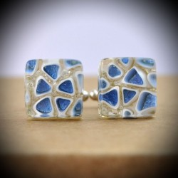 CREE BLUE CUFFLINKS IN MURANO GLASS