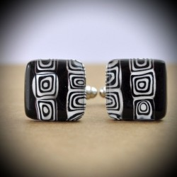 CREE BLACK CUFFLINKS IN MURANO GLASS
