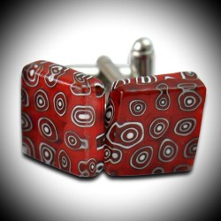 CREE RED CUFFLINKS IN MURANO GLASS