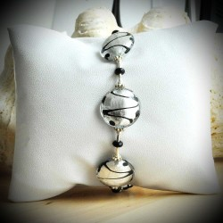 CHARLY BRACELET SILVER GENUINE MURANO GLASS OF VENICE
