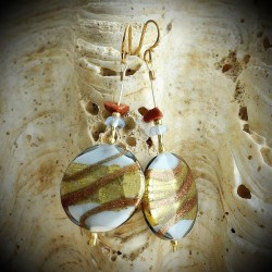 JAMES SILVER earrings IN REAL GLASS OF MURANO IN VENICE