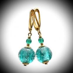 FIZZY BLUE TURQUOISE - earrings EARRINGS BLUE JEWELRY IN GENUINE MURANO GLASS FROM VENICE