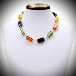 Halskette Gold, echtes glas von Venedig