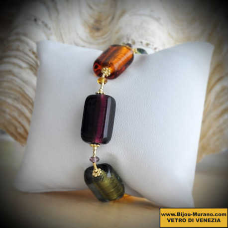 BRACELET AMBER IN GENUINE MURANO GLASS FROM VENICE