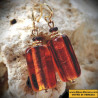 Earrings AMBER GENUINE MURANO GLASS OF VENICE