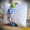 STRAP BLUE GENUINE MURANO GLASS OF VENICE