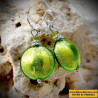 Earrings GREEN ANISE of ITALY Of GENUINE MURANO GLASS OF VENICE