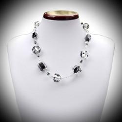 Halskette in schwarz und silber und Murano Venedig
