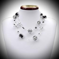 Halskette in schwarz und silber long Murano Venedig