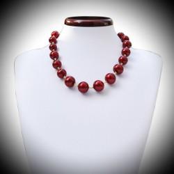 Halskette echtes Muranoglas rot von Venedig