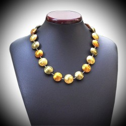 NECKLACE GOLD REFINED IN MURANO GLASS OF VENICE