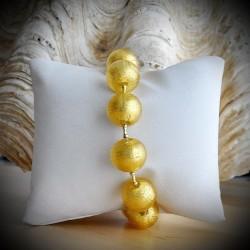BRACELET IN GENUINE GLASS IN VENICE GOLD