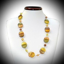 COLLIER EN VERITABLE VERRE DE MURANO OR DE VENISE