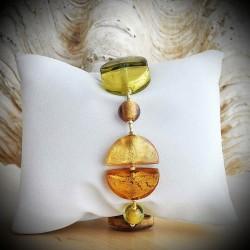 BRACELET GENUINE MURANO GLASS GOLD