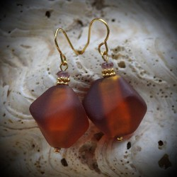 Earrings MURANO GLASS AMBER VENICE