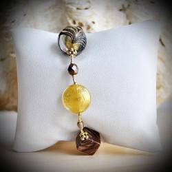 FENICE GOLD BRACELET GENUINE MURANO GLASS OF VENICE