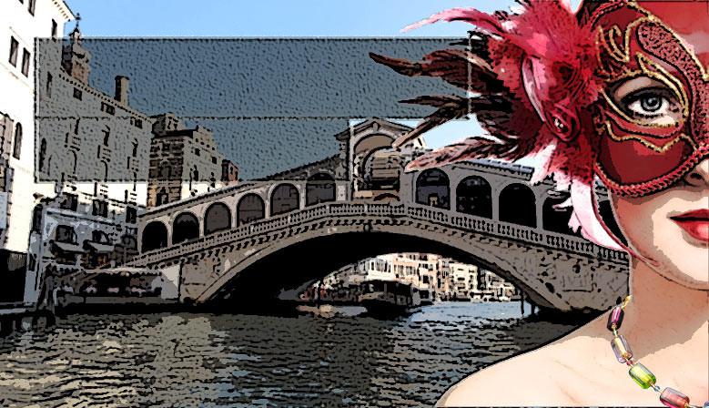 Muranoglas-Halsketten aus Venedig