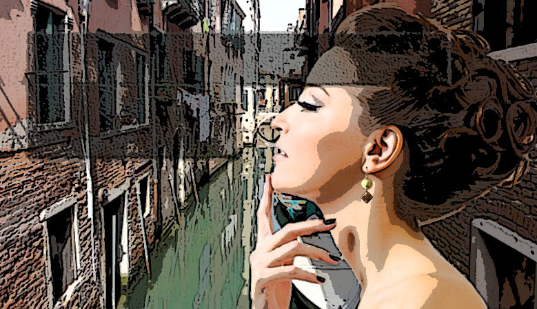Muranoglas-Armband aus Venedig