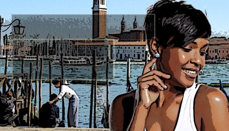 Boucles d'oreilles en verre de Murano de Venise